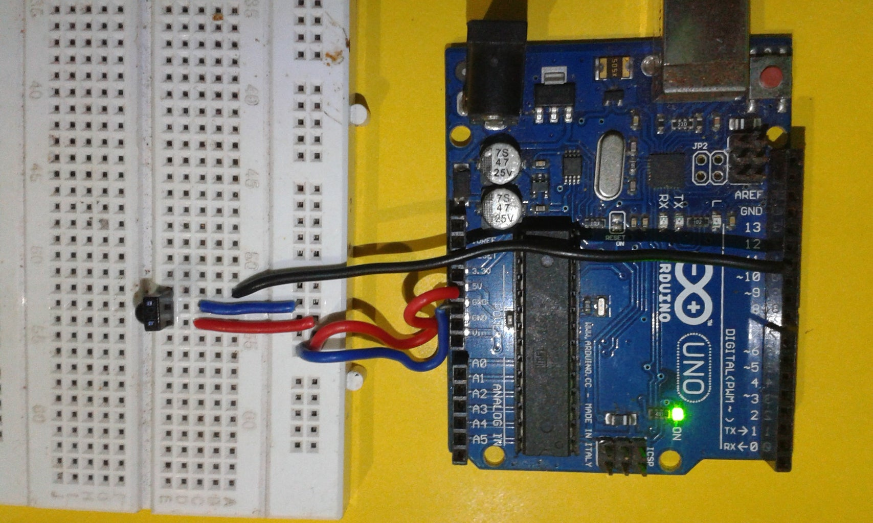 The Circuit and Arduino Code