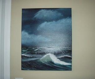 Ocean Storm Oil Painting