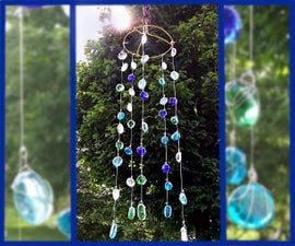 Glass Wind Chime - No Drilling