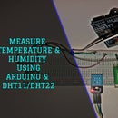 Measure Temperature and Humidity Using DHT11 / DHT22 and Arduino
