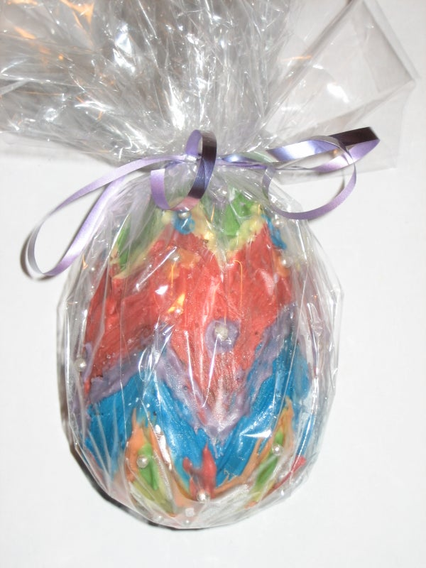 Decorated Chocolate Easter Eggs.