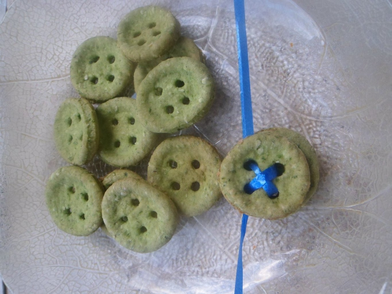 Spinach Button Cookies