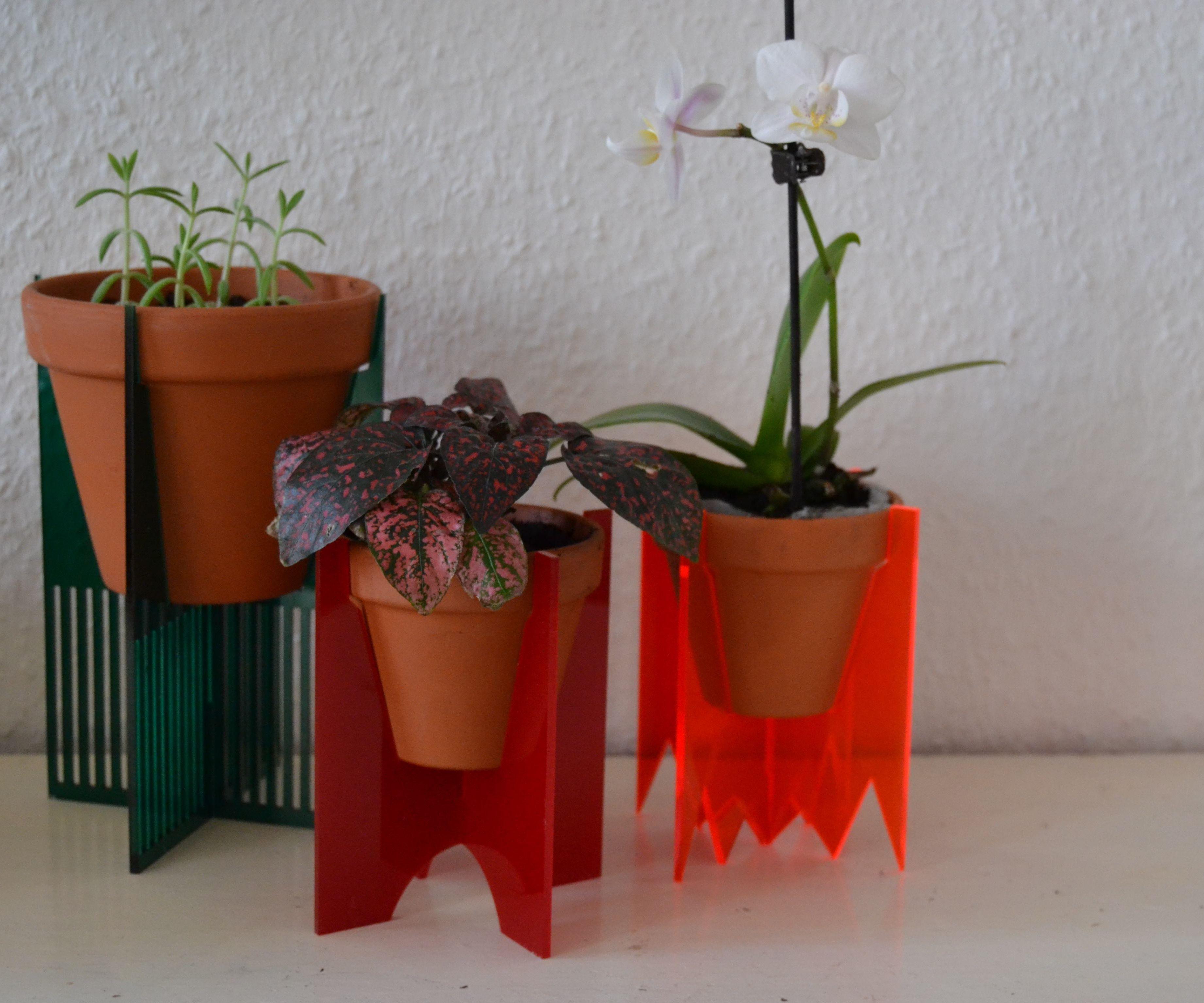 Laser cut planters