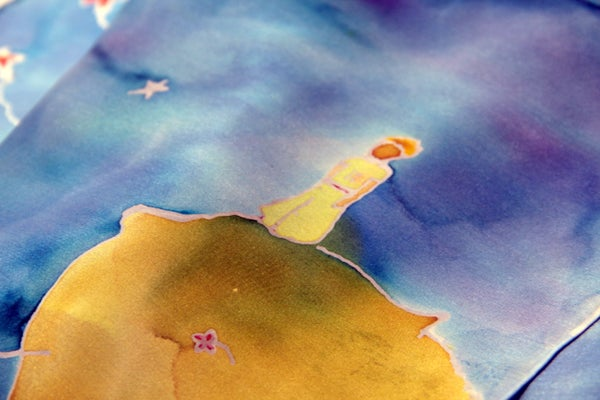 """""""The Little Prince"""" Silk Painted Scarf"""