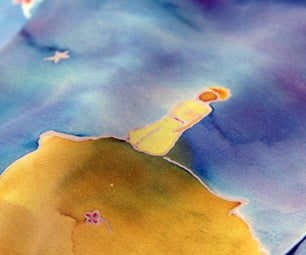 """The Little Prince"" Silk Painted Scarf"