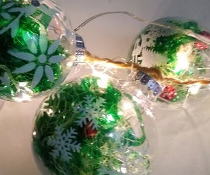 Christmas Balls With Fairy Lights (Bolas Navideñas Con Luces Hada)