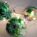 Christmas Balls With Fairy Lights (Bolas Navideñas Con Luces Hada)