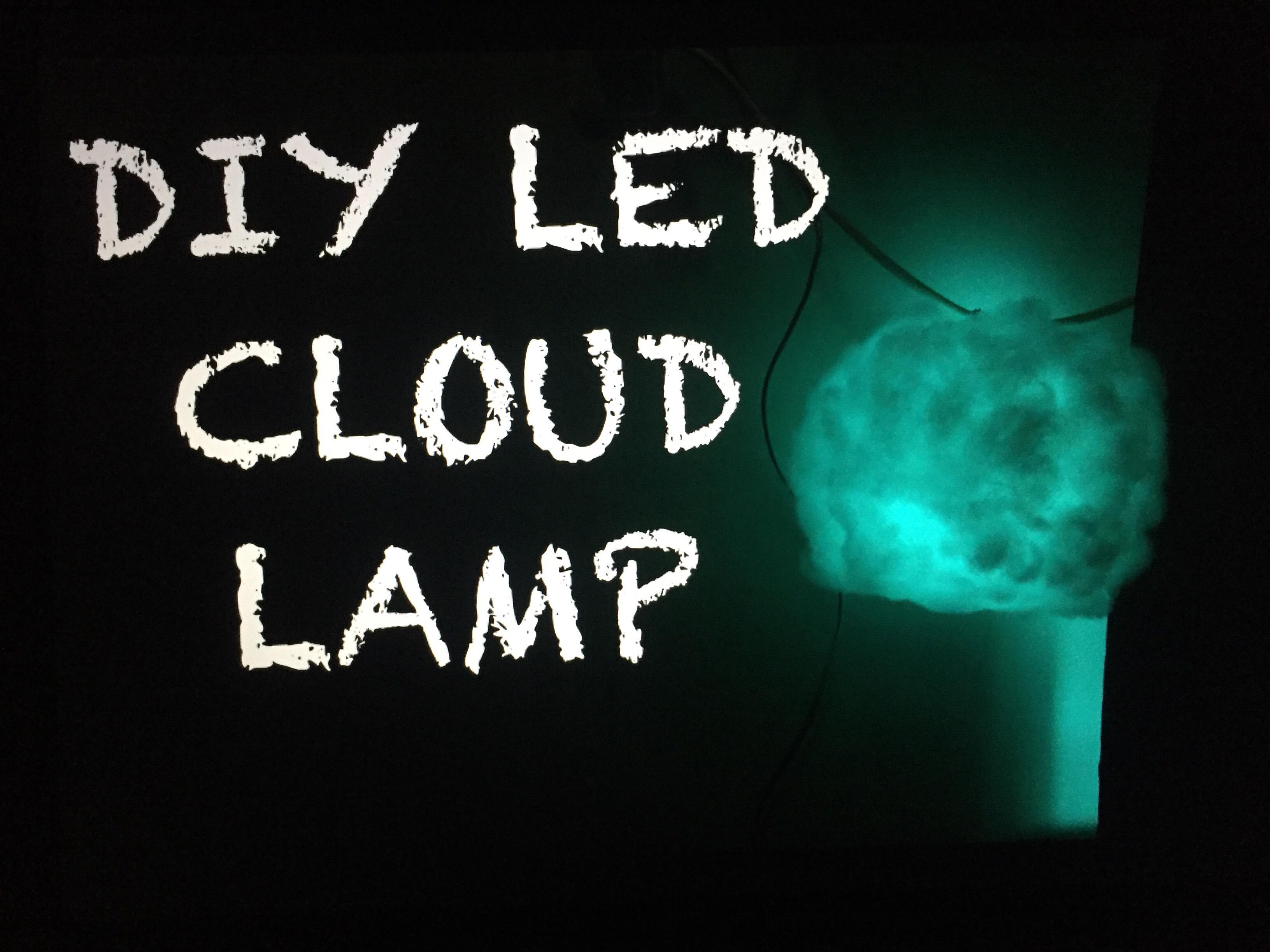 Diy LED CLOUD LAMP