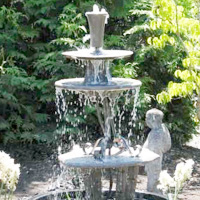 Three-Tiered Garden Fountain