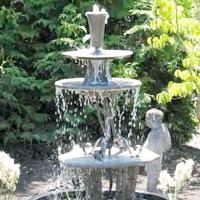 Three-Tiered Garden Fountain