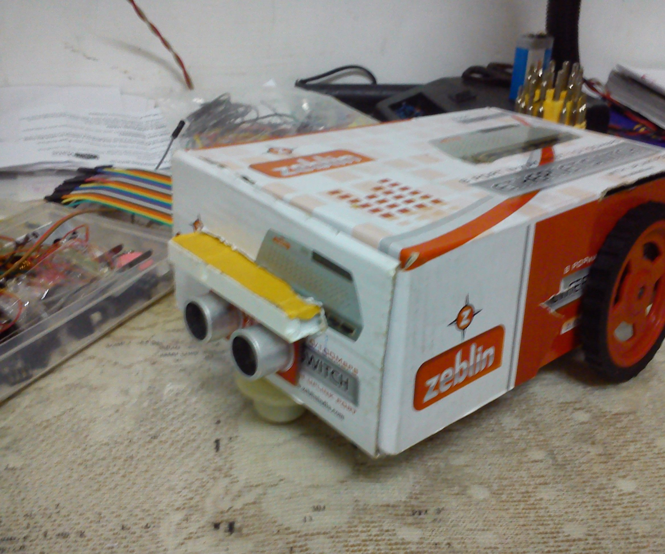 DUAL MODE ROBOT => (AUTONOMOUS / MANUAL CONTROL)