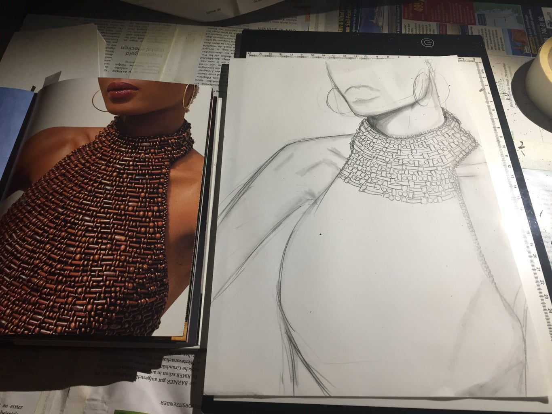 Fashion Illustration W/ Coffee