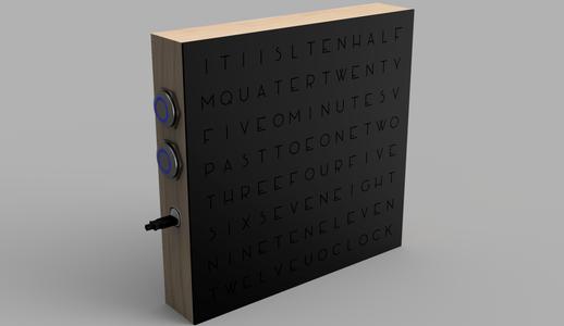 Minimalistic Word Clock