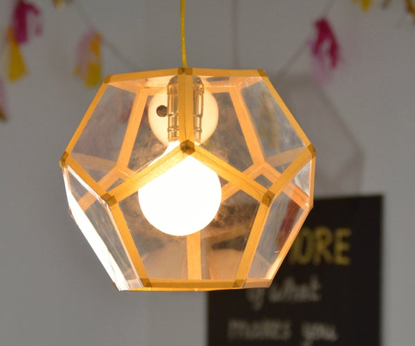 How to DIY a Golden Pendant Lamp