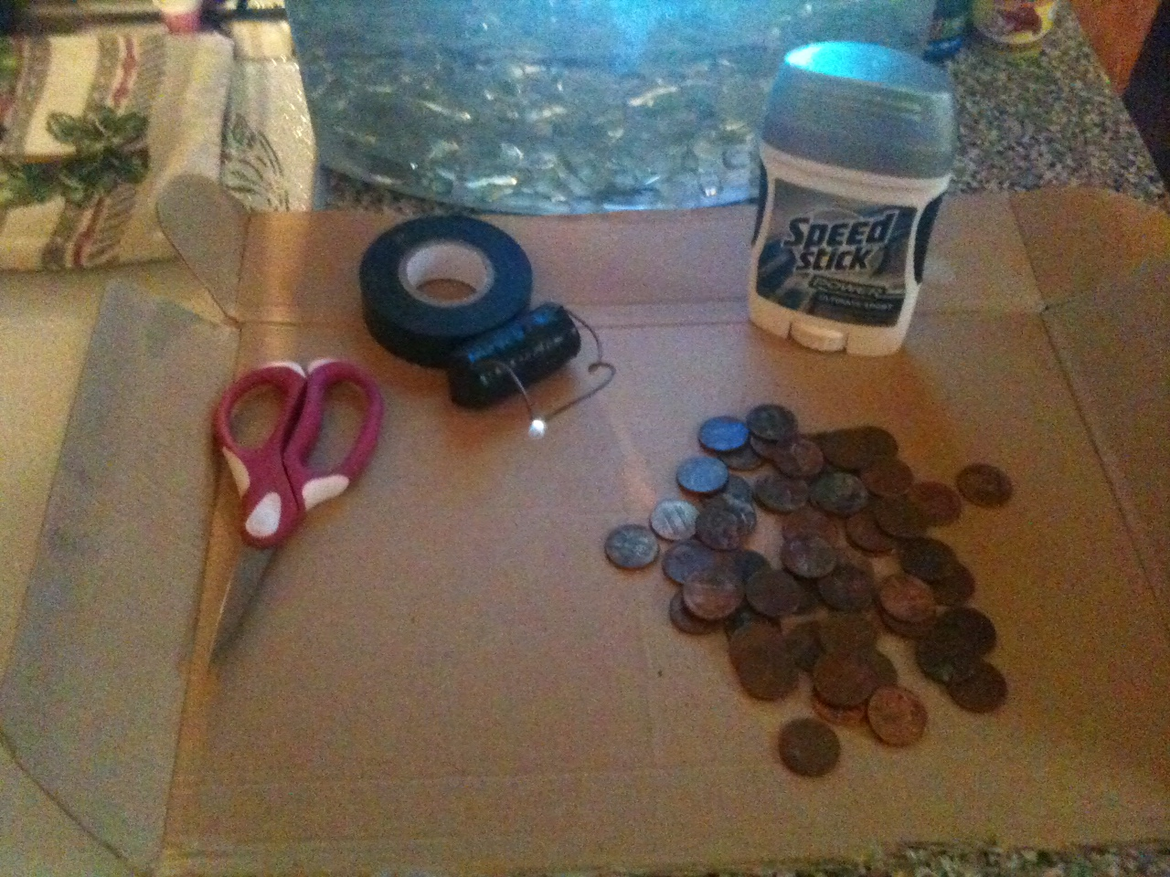 Battery from Deodorant & Pennies (rechargeable)