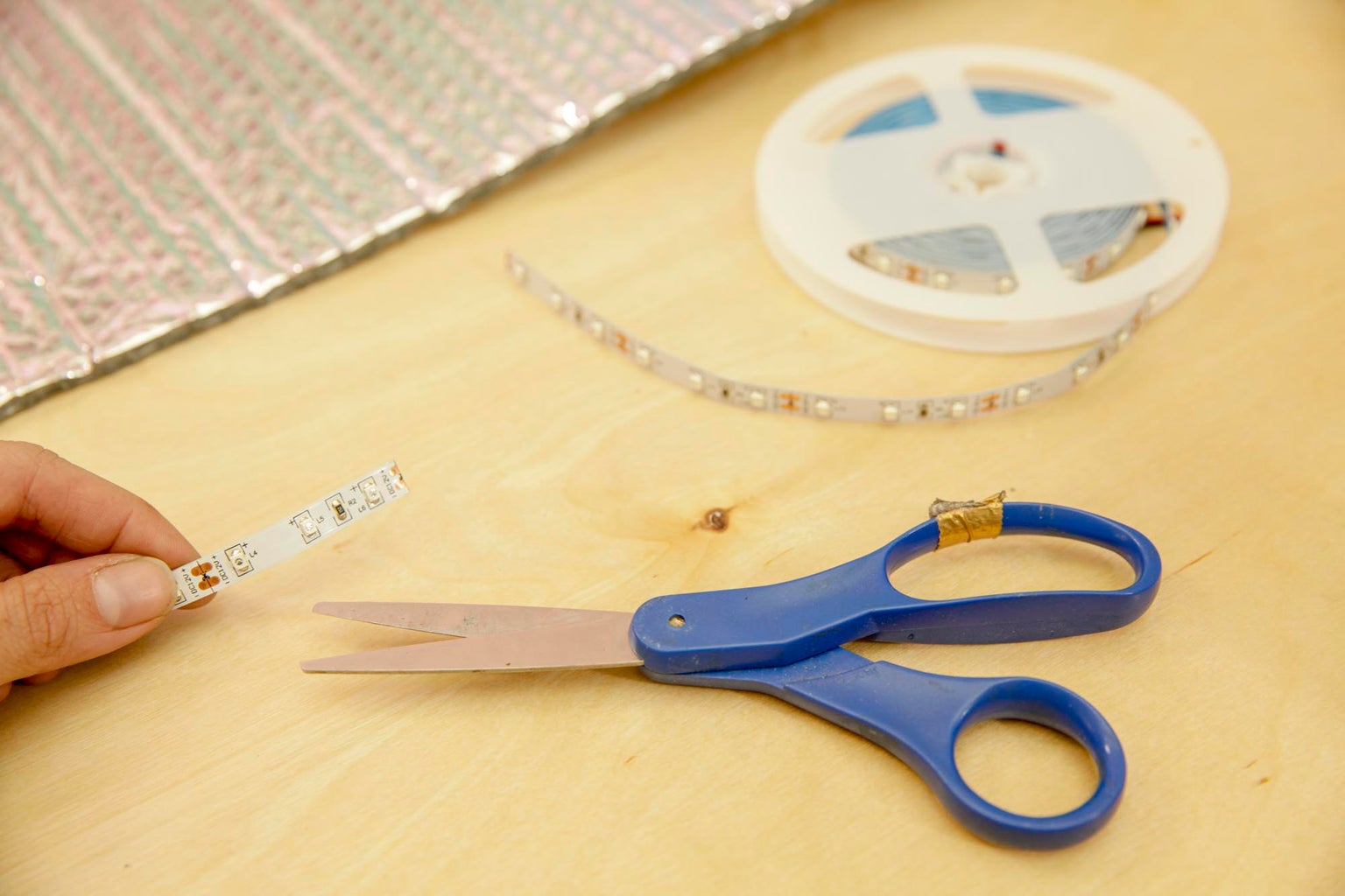 Cutting and Placing the LED Strips