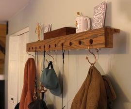 挂钩:DIY墙上带有钩子