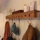 Hooked: DIY Wall Shelf With Hooks