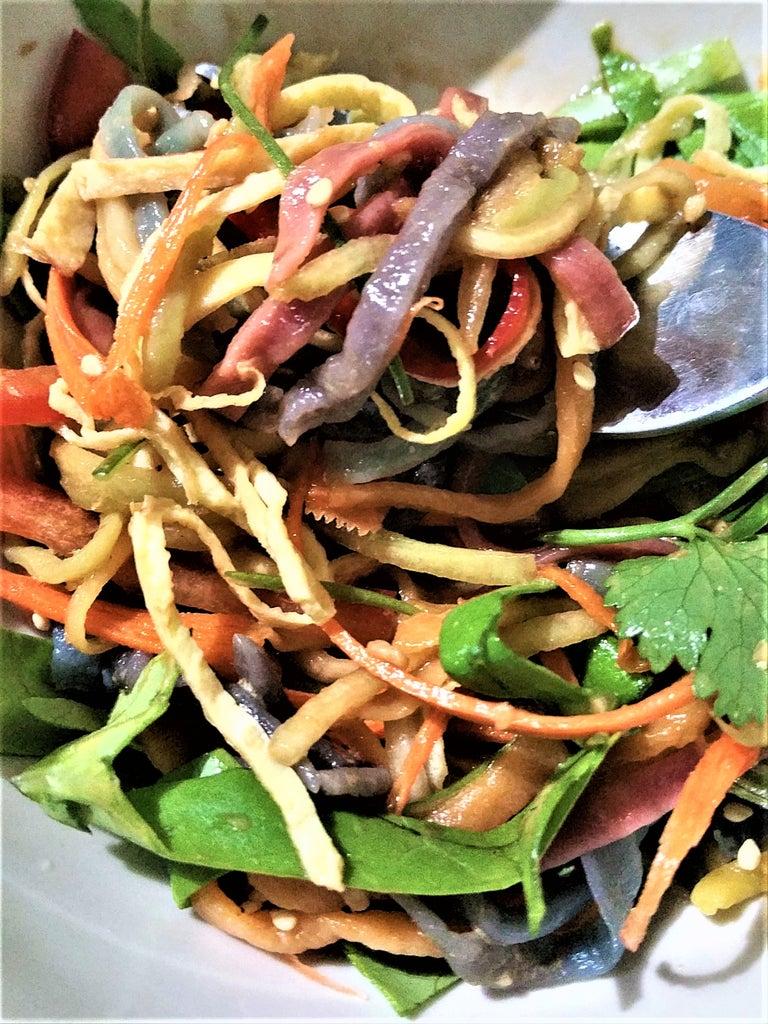 Homemade Rainbow Pasta Salad