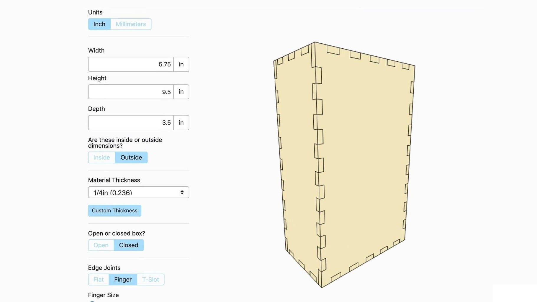 Create Your Box Template
