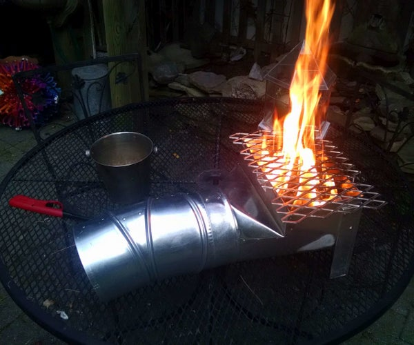 Portable Rocket Stove About $25