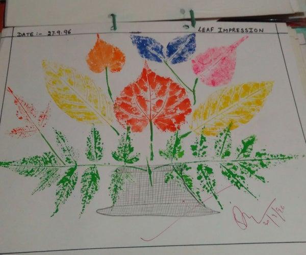 Leaf Impression Painting