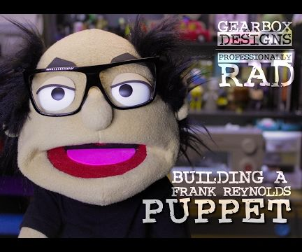 Making a Hand and Road Puppet of Frank Reynolds.