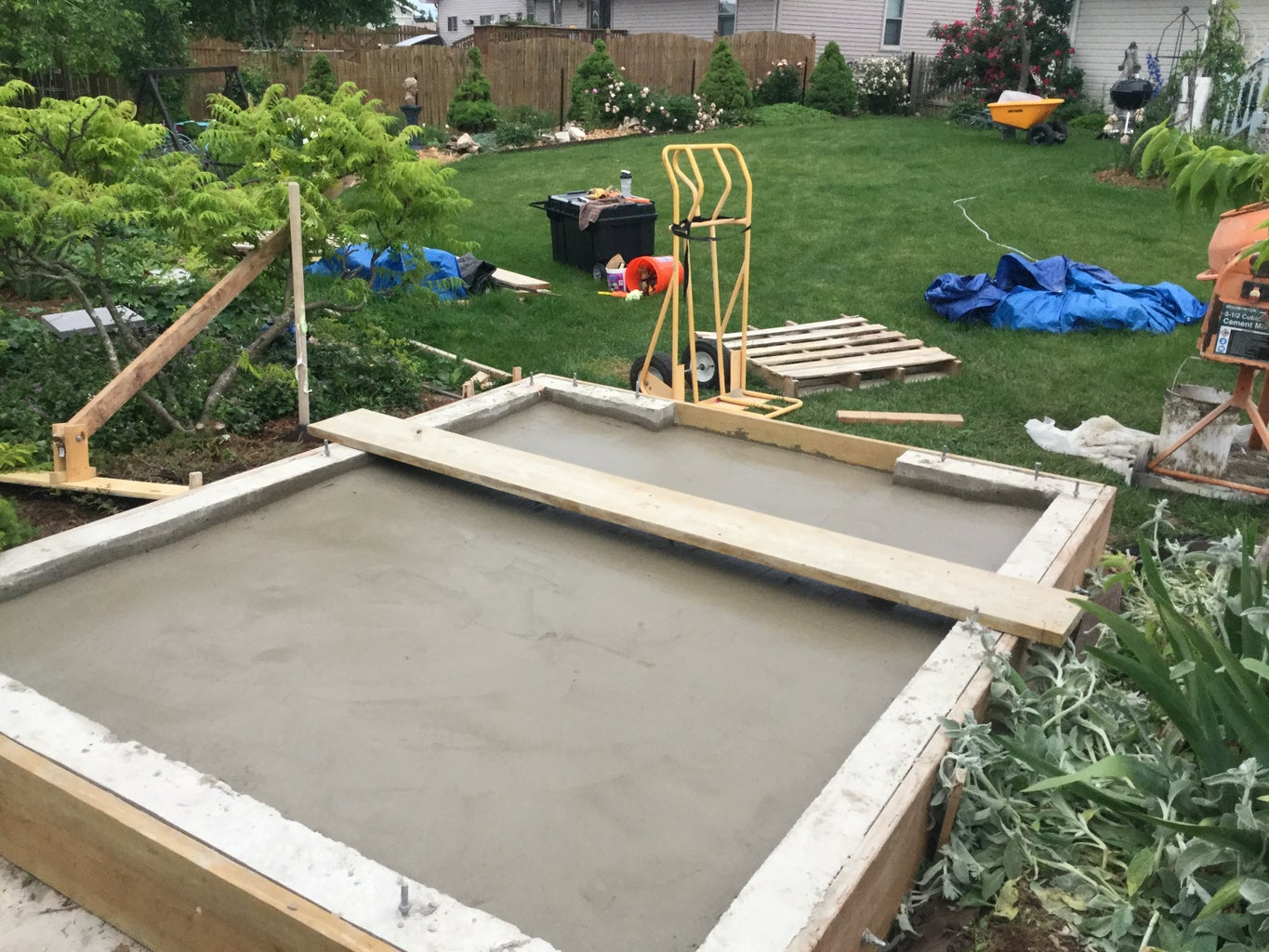 Pouring the Shed Floor