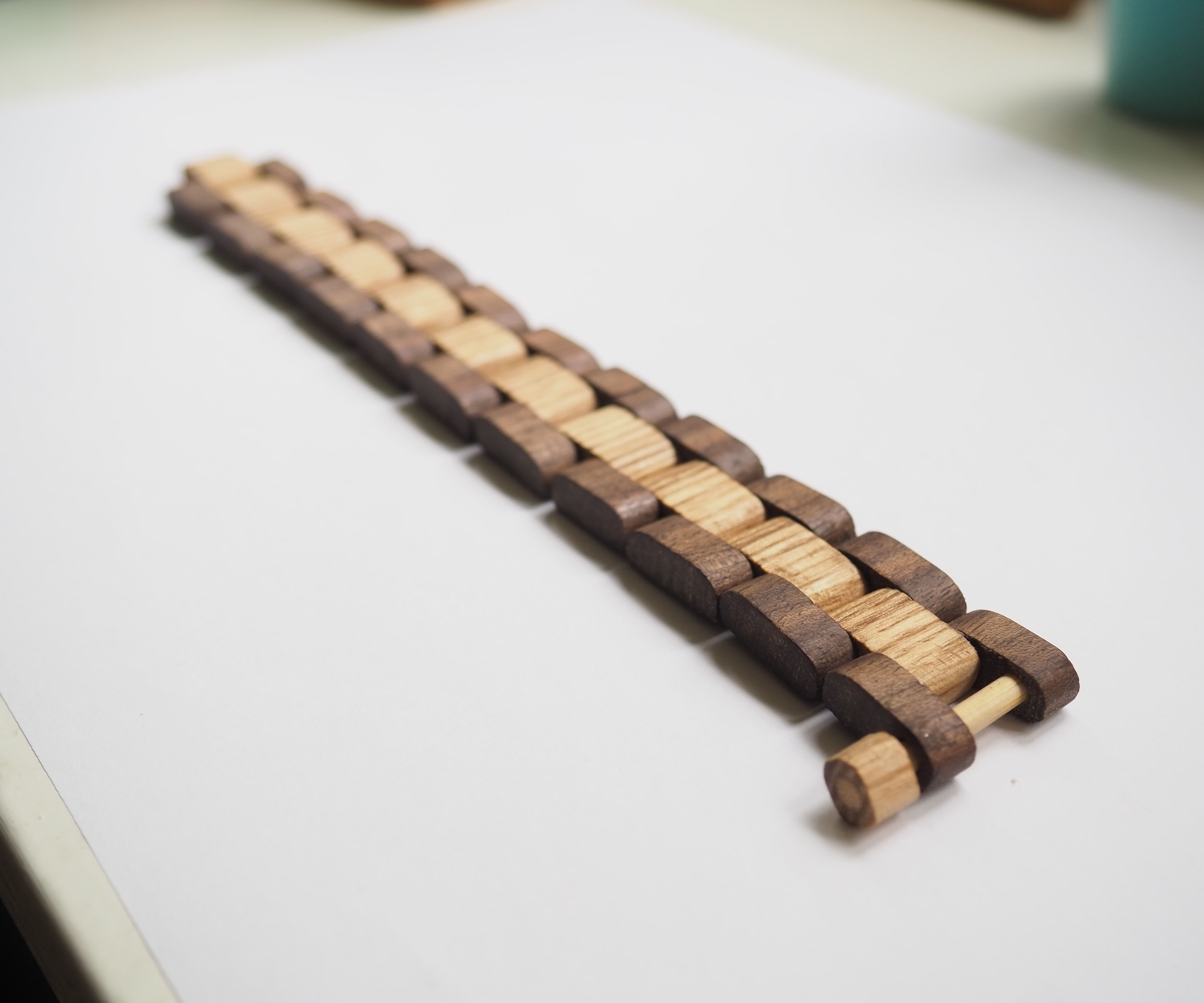 Walnut and Oak Bracelet