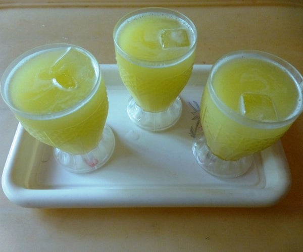 Super Delicious Summer Drink From Raw Mangoes