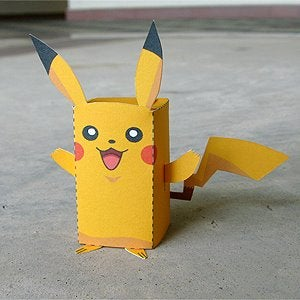 Paper Craft Pikachu Box Figure (Finger Puppet Pokemon)!