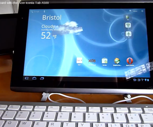 How to Use a USB Keyboard With the Acer Iconia A500 Tablet