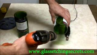 Tips on Sanding a Cut Glass Wine Bottle Edges