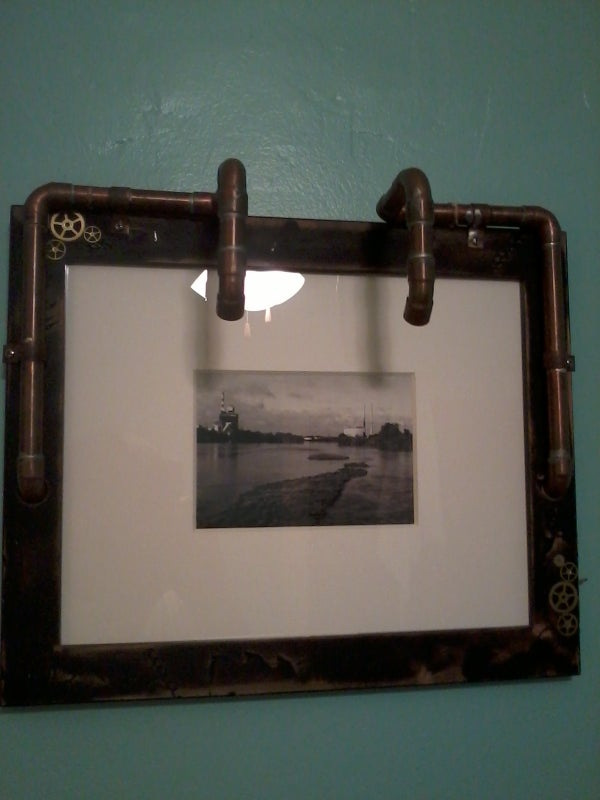 Steampunk Style Picture Frame