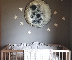 How to Make a Paper Mache Moon Wall Hanging