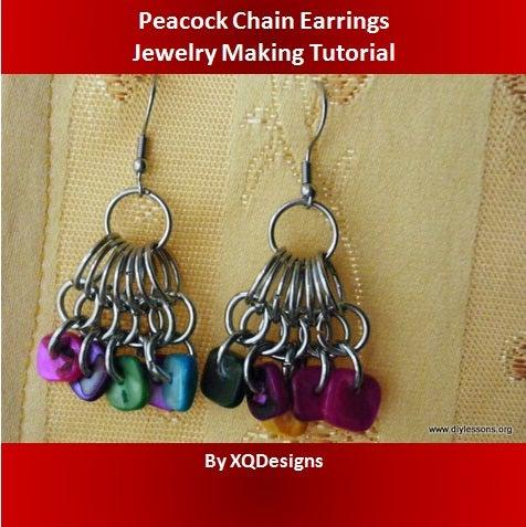 Peacock Chain Earrings