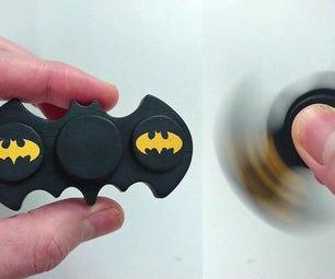 Cool DIY Batman Fidget Spinner (Without Bearings)
