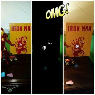 Backlit Iron Man Poster