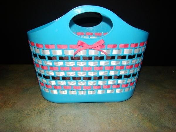 A Wonderful Ribbon and Plastic Basket