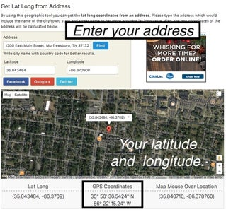 Determine Your Exact Location - or the Exact Location for Your Astrolabe.