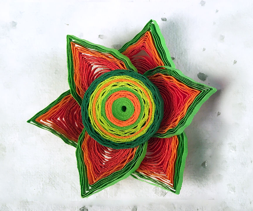How to Make Beautiful 3D Flower Using Paper Art Quilling - Part II
