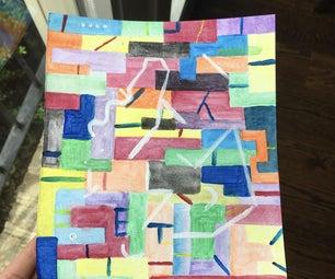 Rainbow Abstract Painting (original)