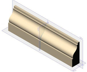 Extrude a Molding From a Catalog Feature