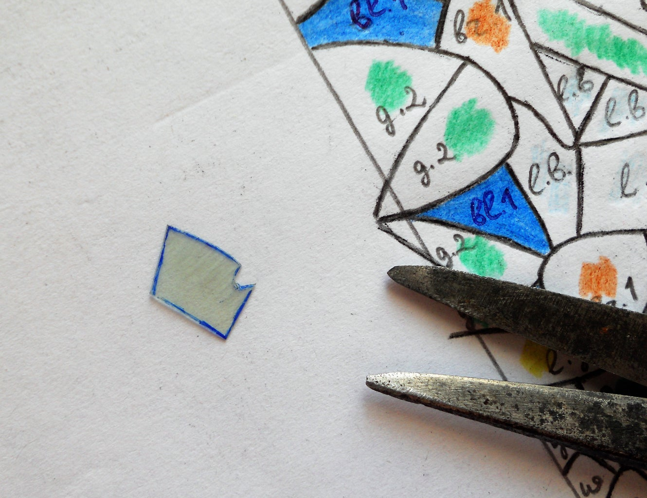 Preparation of the Pieces of Mosaic