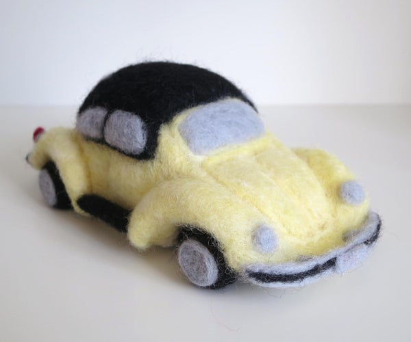 How to Sculpt a VW Beetle From Wool