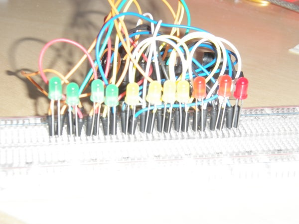 Bouncing Multicolored LED Line