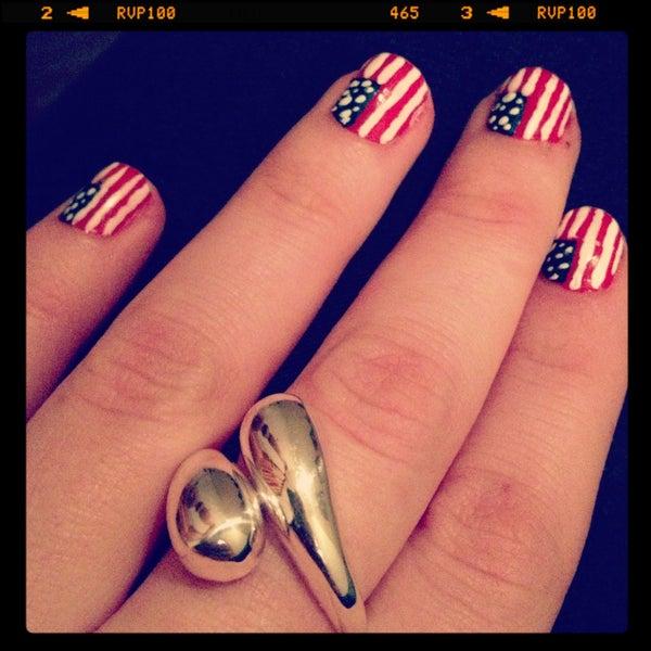 USA Flag Nail Polish