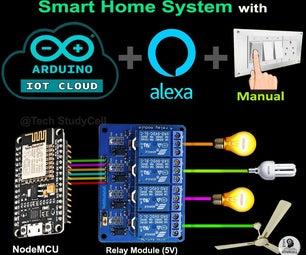Arduino IoT Cloud ESP8266 NodeMCU Alexa Home Automation System | IoT 2021