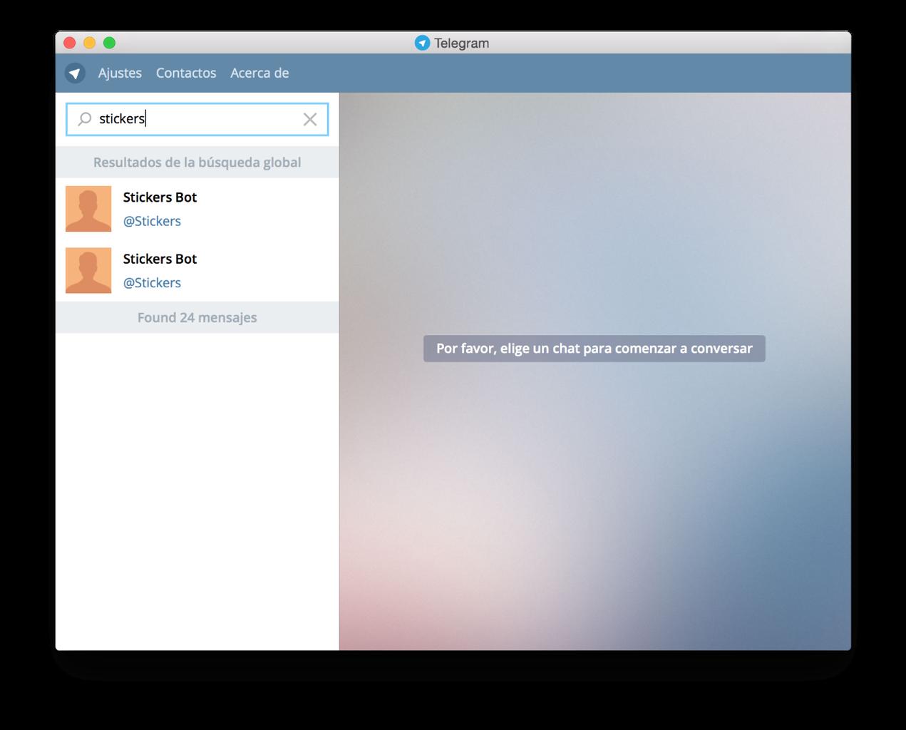 Create a New Stickers Pack in Telegram