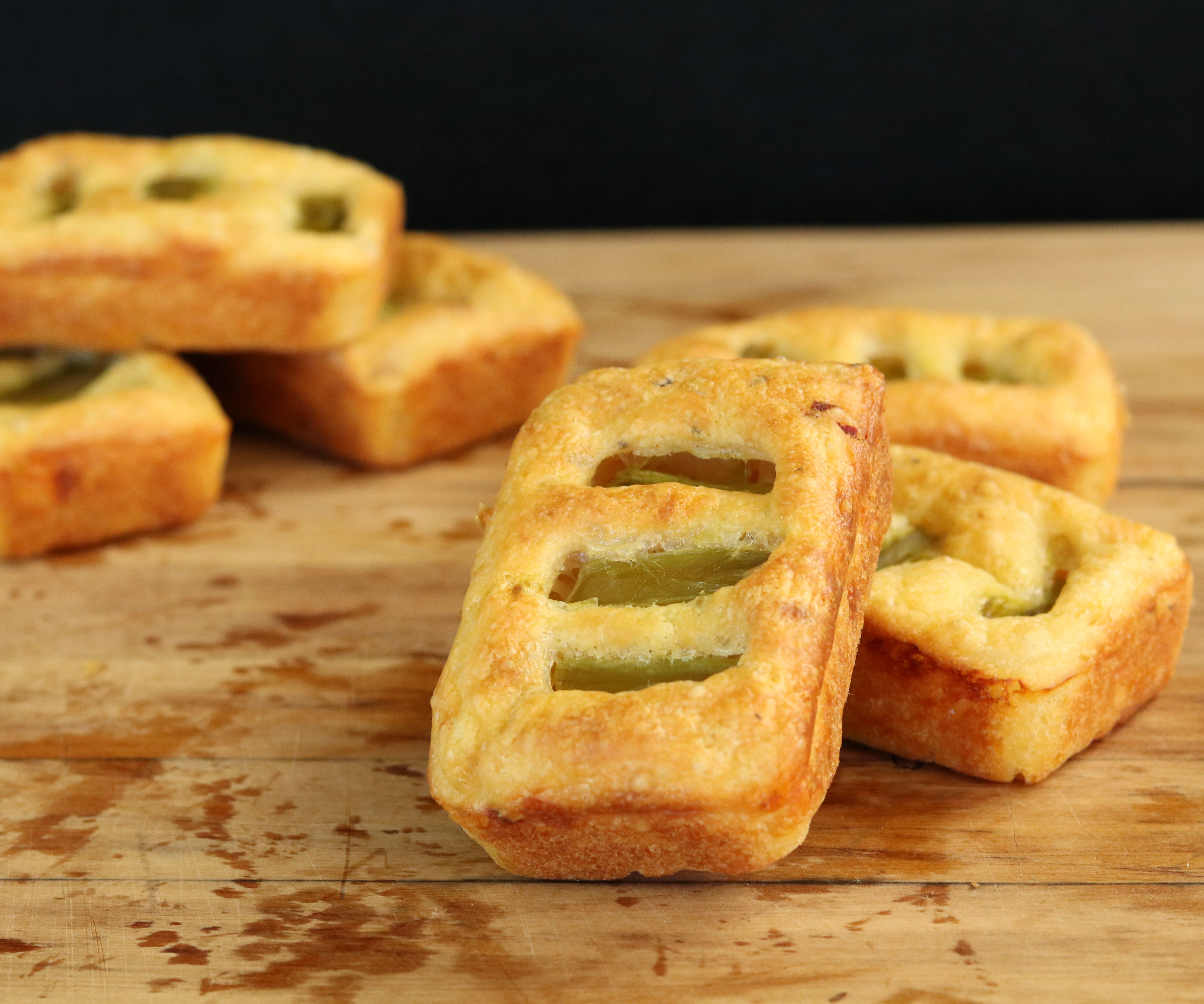 Cheese Grills with Asparagus Filling